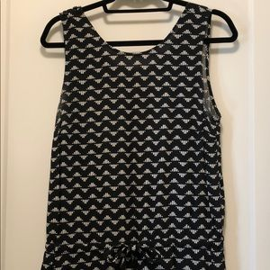 Old Navy black and white jumpsuit